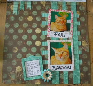 Scrapbooking: Layout Frau Baronin