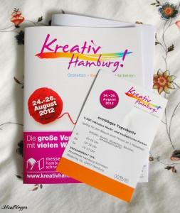 Kreativ Hamburg! Eintrittskarte und Lageplan