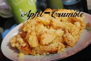 Rezept für Apfel-Crumble