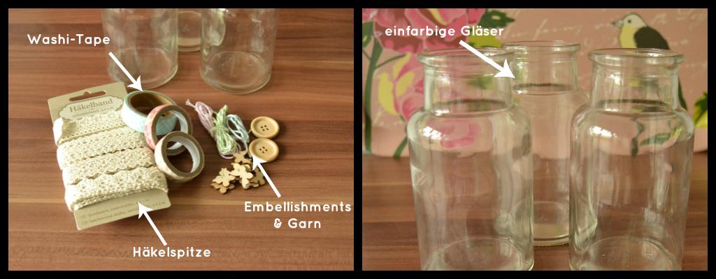 DIY: Vasen verzieren - Material