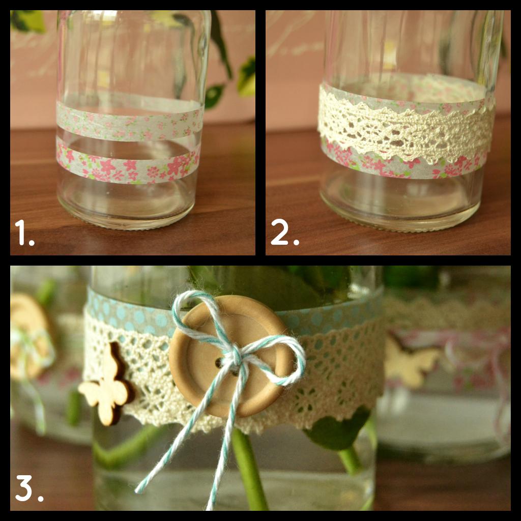 DIY: Vasen verzieren - Anleitung
